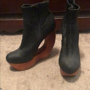 Jeffrey Campbell wooden wedges
